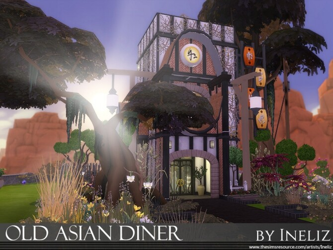 Old Asian Diner by Ineliz at TSR image 920 670x503 Sims 4 Updates