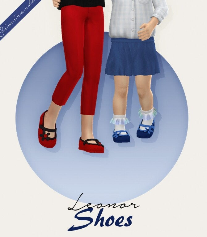 Sims 4 Leonor Shoes 3T4 at Simiracle