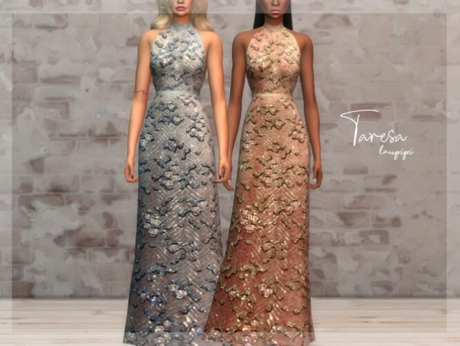 Taresa long embellished dress by laupipi