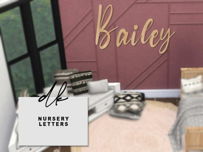 Sims 4 Wooden Nursery Letters at DK SIMS