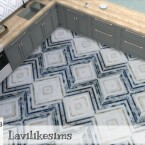 Stripe Diamonds tiles by lavilikesims