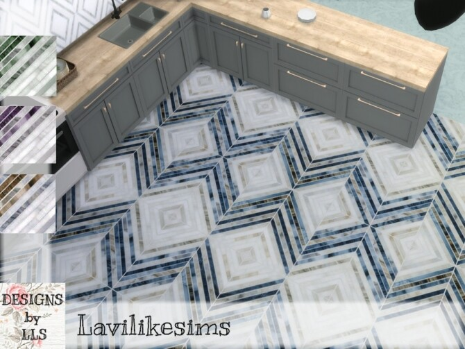 Sims 4 Stripe Diamonds tiles by lavilikesims at TSR