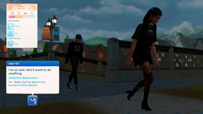 Sims 4 Seasonal Affective Disorder trait by Sunglower at Mod The Sims