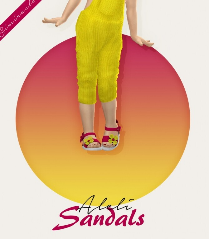Sims 4 Aleli Sandals Toddler Version 3T4 at Simiracle