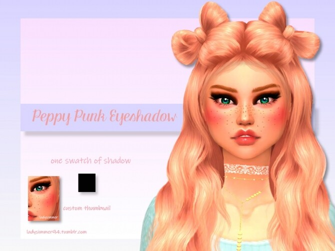 Peppy Punk Eyeshadow by LadySimmer94 at TSR image 950 670x503 Sims 4 Updates