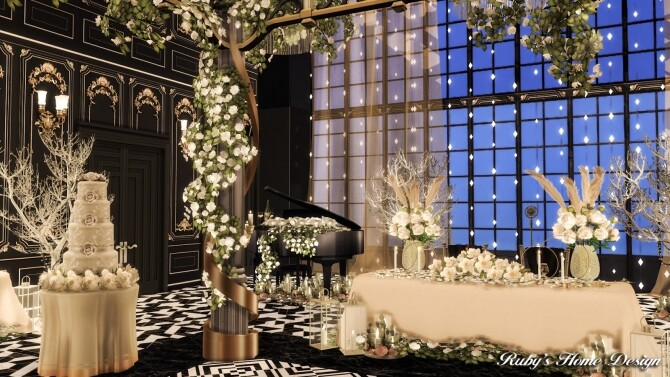 Sims 4 Love on a rooftop   Wedding venue at Ruby's Home Design