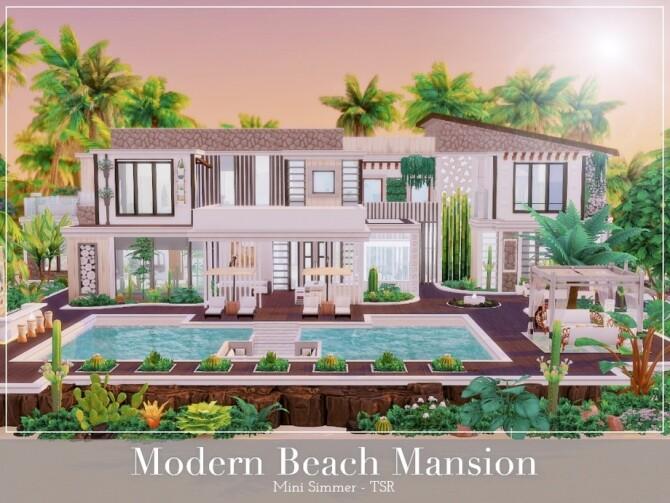 Sims 4 Modern Beach Mansion by Mini Simmer at TSR