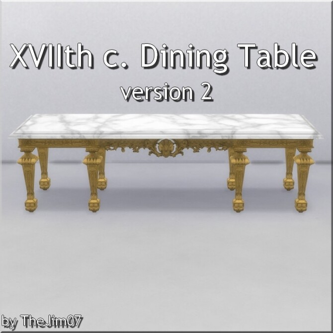XVIIth century dining table by TheJim07 at Mod The Sims image 956 670x670 Sims 4 Updates