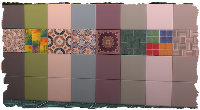 Sims 4 Tile wall by Chalipo at All 4 Sims