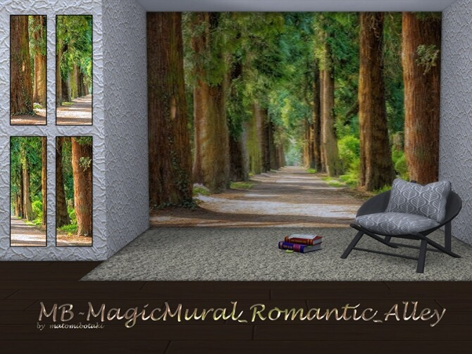 Sims 4 MB Magic Mural Romantic Alley by matomibotaki at TSR