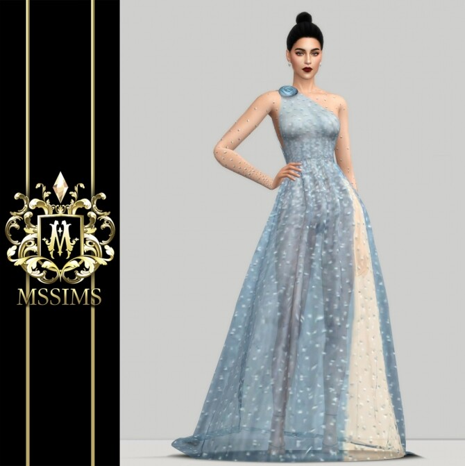 SHINING TULLE GOWN (P) at MSSIMS image 9720 670x671 Sims 4 Updates