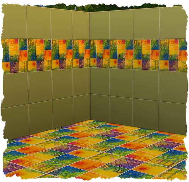 Tile wall by Chalipo at All 4 Sims image 9723 Sims 4 Updates