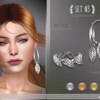 Set N3 2 earrings and 3 bracelets by Soloriya