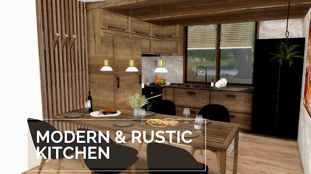Modern Rustic Kitchen Livingroom