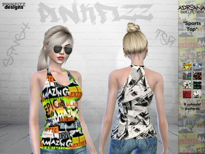 Sims 4 Adriana Sports Top PF112 by Pinkfizzzzz at TSR