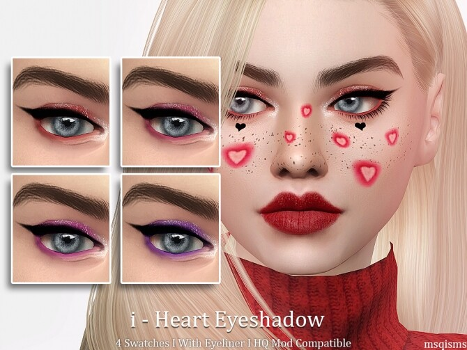 Sims 4 i Heart Eyeshadow at MSQ Sims