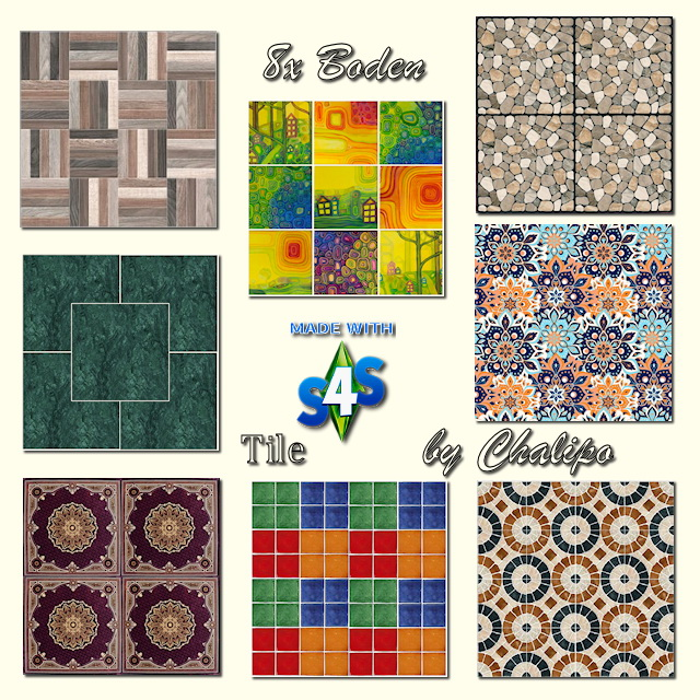 Floor tiles by Chalipo at All 4 Sims image 9923 Sims 4 Updates