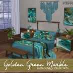 Golden Green Marble Bedroom by neinahpets