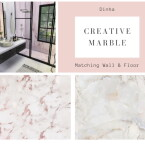Matching Walls and Floor Creative Marble