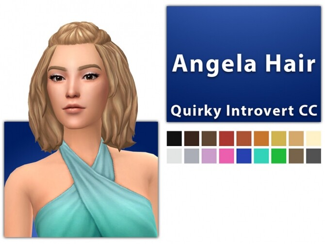 Sims 4 Angela Hair by QICC at TSR