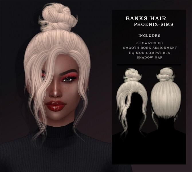 Sims 4 BANKS AND MAURA HAIRS at Phoenix Sims