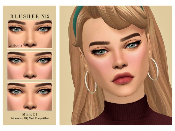 Sims 4 Blusher N12 by Merci at TSR