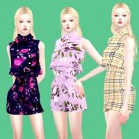 Collar mini dress by simjigi