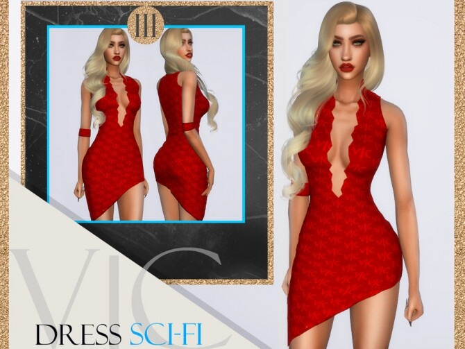 Sims 4 DRESS APOCALYPSE SCI FI III by Viy Sims at TSR