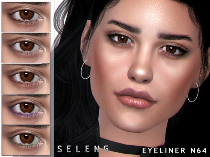 Sims 4 Eyeliner N64 by Seleng at TSR
