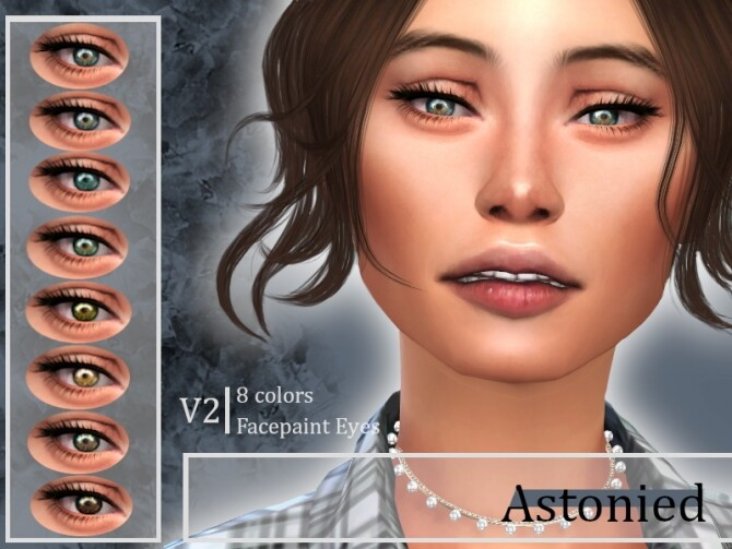 Sims 4 Eyes V2 by Astonied at TSR