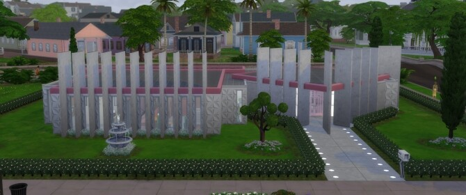 The Glendale Mid Century Modern Googie Style Home by DominoPunkyHeart at Mod The Sims image Googie Style Home by DominoPunkyHeart 2 670x280 Sims 4 Updates