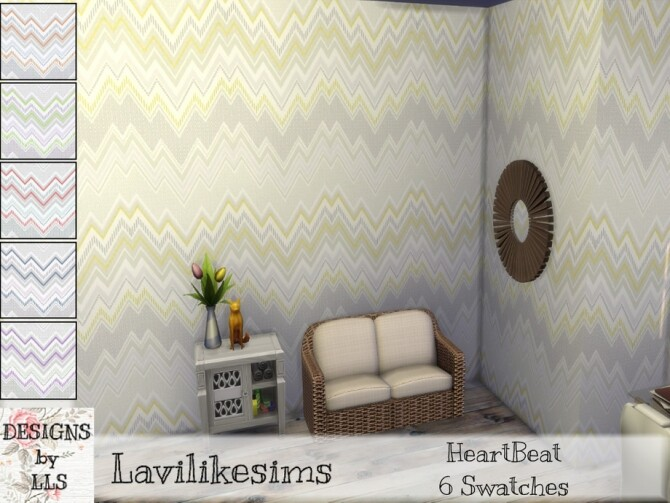Sims 4 Heartbeat wallpaper by lavilikesims at TSR