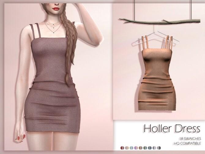 Sims 4 LMCS Holler Dress by Lisaminicatsims at TSR