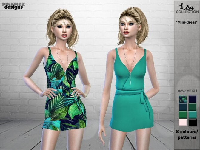 Lisa Short Dress PF100 by Pinkfizzzzz at TSR image Lisa Short Sims 4 Dress by Pinkfizzzzz 670x503 Sims 4 Updates
