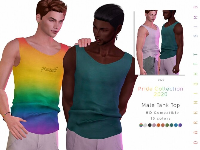 Sims 4 Male Tank Top by DarkNighTt at TSR