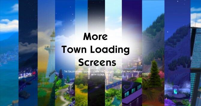 Sims 4 More Town Loading Screens by Debbiepearl at Mod The Sims
