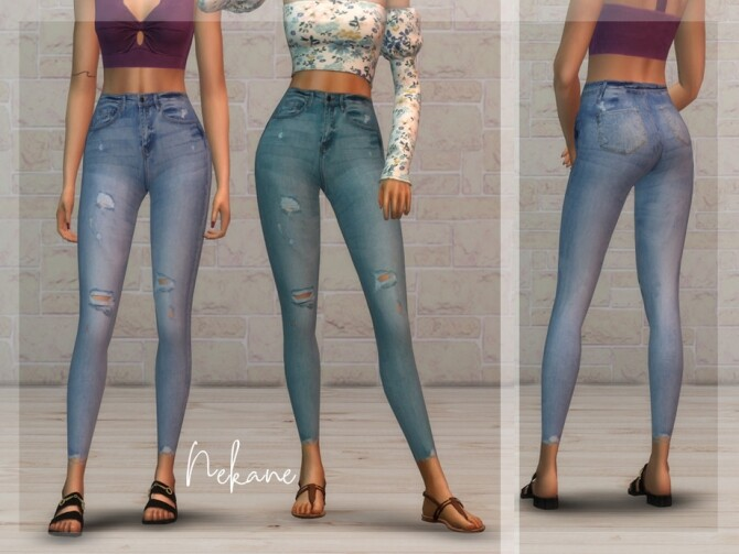 Nekane high waisted jeans by laupipi at TSR image Nekane high waisted jeans by laupipi 670x503 Sims 4 Updates