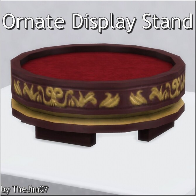 Ornate Display Stand by TheJim07 at Mod The Sims image Ornate Display Stand by TheJim07 670x670 Sims 4 Updates