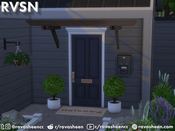 Sims 4 Shut The Front Door Set by RAVASHEEN at TSR