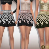 Star Sequin Flare Mini Skirt by Harmonia