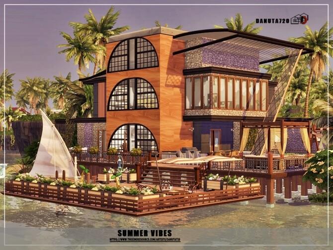 Sims 4 Summer vibes house by Danuta720 at TSR