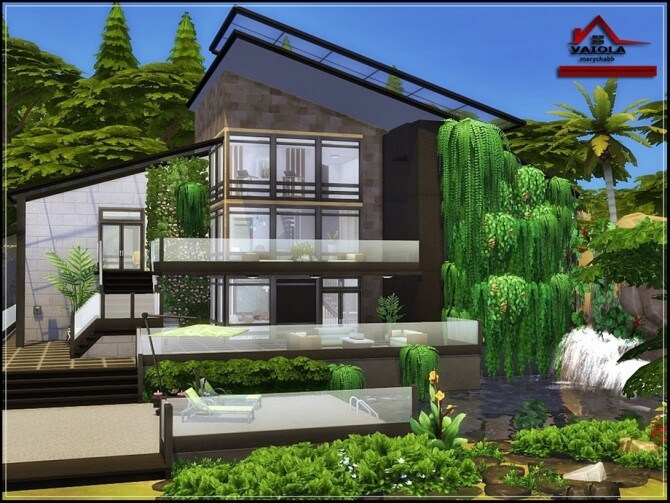 Sims 4 Vaiola house by marychabb at TSR