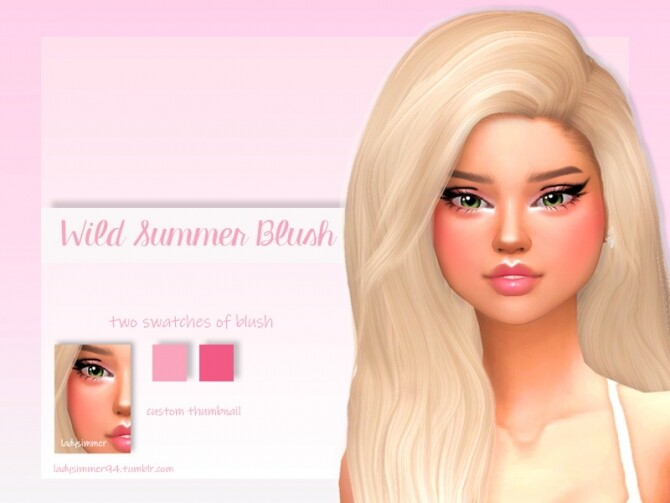 Wild Summer Blush by LadySimmer94 at TSR image Wild Summer Blush by LadySimmer94 670x503 Sims 4 Updates