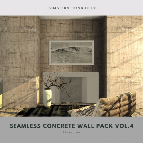 Seamless Concrete Wall Pack Vol4