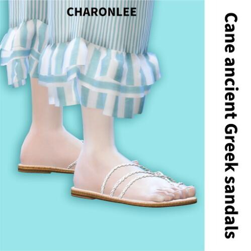 Cane ancient Greek sandals