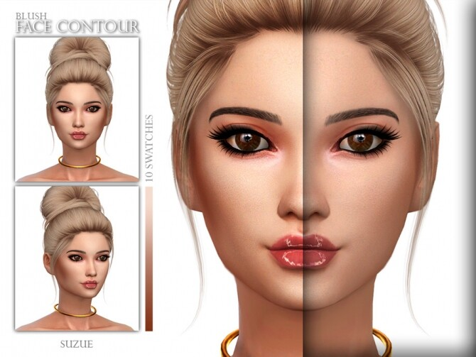 Sims 4 Face Contour Blush N8 by Suzue at TSR