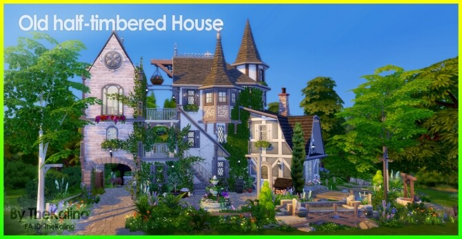 Sims 4 Old half timbered House at Kalino