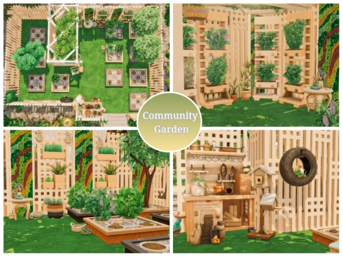 Sims 4 Container Park by Mini Simmer at TSR