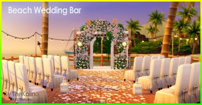 Beach Wedding Bar at Kalino image 10513 670x347 Sims 4 Updates