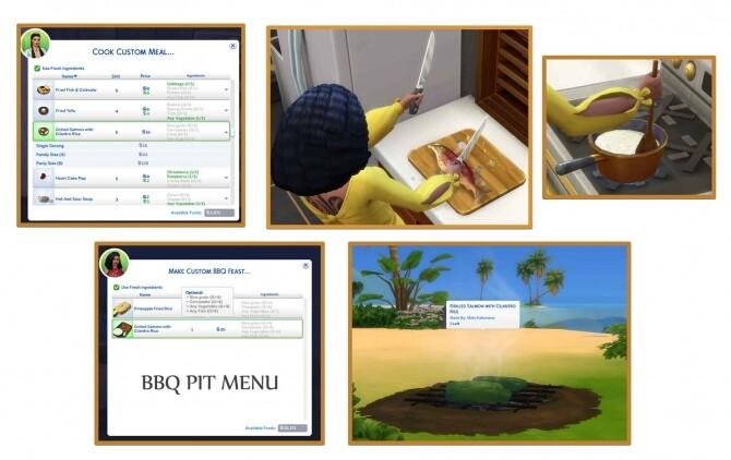 Sims 4 GRILLED SALMON WITH CILANTRO RICE at Icemunmun